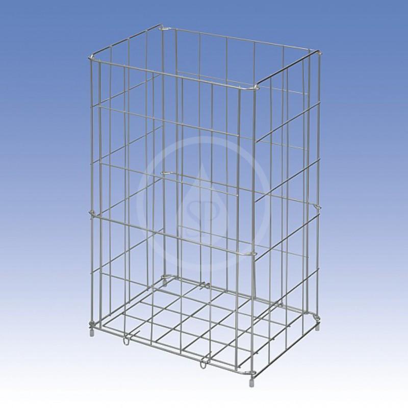 SANELA - Nerezové odpadkové koše Drátěný koš, rozměr 350 x 290 x 150 mm, nerez (SLZN 41)