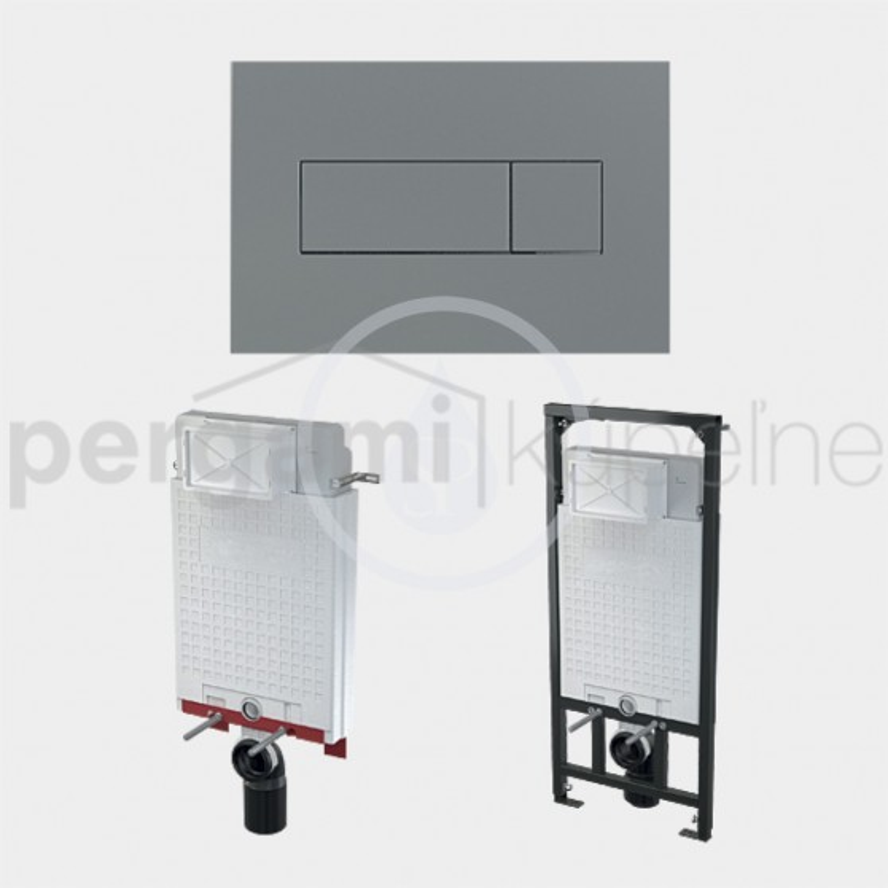 SANELA - Příslušenství Ovládací tlačítko pro modul SLR 21, matný chrom (SLW 51)
