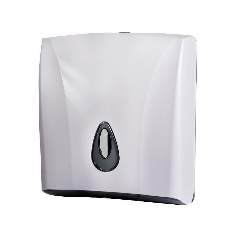 SANELA - Plastové doplňky Zásobník na skládané papírové ručníky, plast, bílý (SLDN 03)