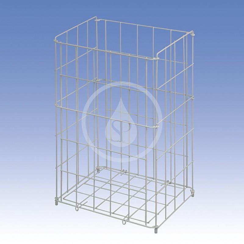 SANELA - Nerezové odpadkové koše Drátěný koš, rozměr 350 x 290 x 150 mm, bílý (SLZN 40)