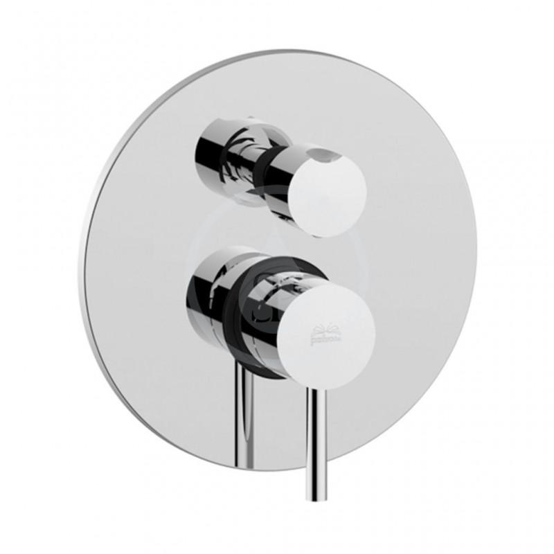 PAFFONI - Light Sprchová podomítková baterie s přepínačem, 3 vývody, chrom (LIG019CR)