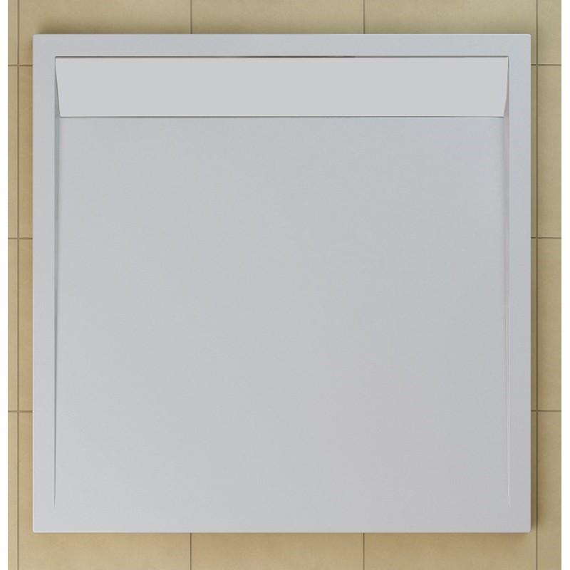 SanSwiss ILA sprchová vanička,čtverec 80x80x3 cm, bílá-kryt bílý, 800//30 (WIQ0800404)