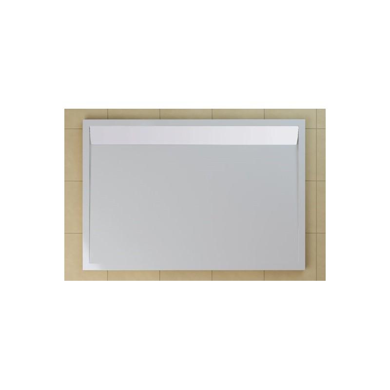 SanSwiss ILA sprchová vanička,obdélník 90x80x3 cm, bílá-kryt bílý, 900/800/30 (WIA800900404)