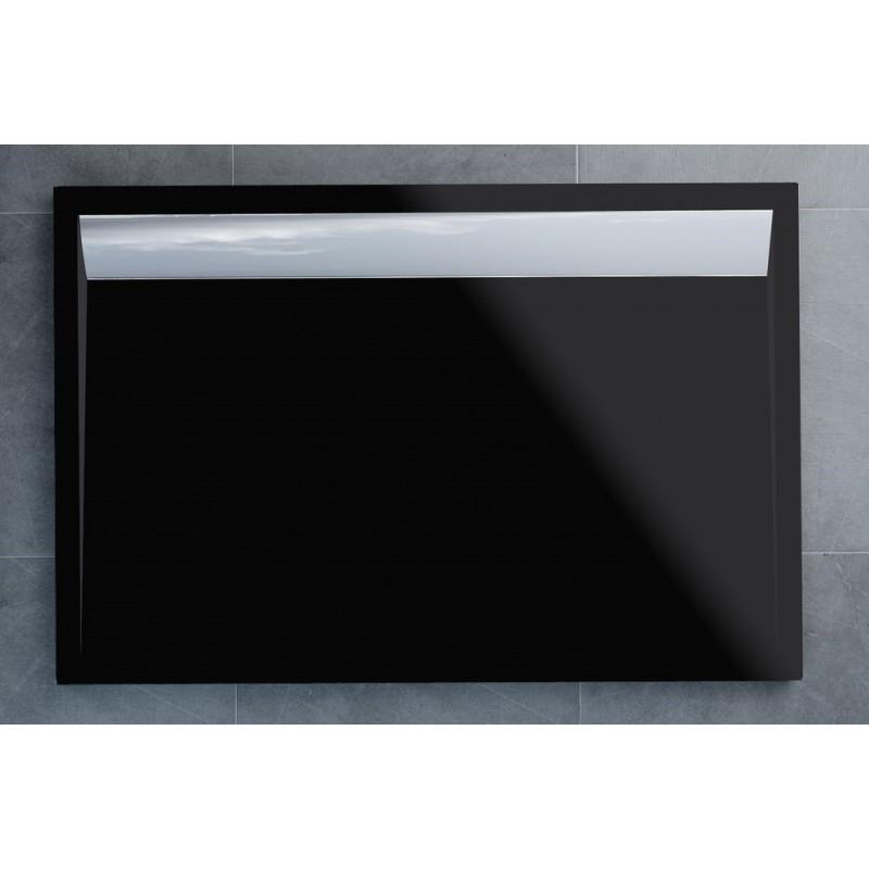 SanSwiss ILA sprchová vanička,obdélník 120x90x3,5 cm, černý granit-kryt aluchrom, 1200/900/35 (WIA9012050154)