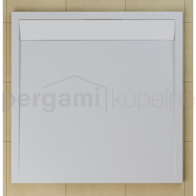 SanSwiss ILA sprchová vanička,čtverec 100x100x3,5 cm, bílá-kryt bílý, 1000//35 (WIQ1000404)