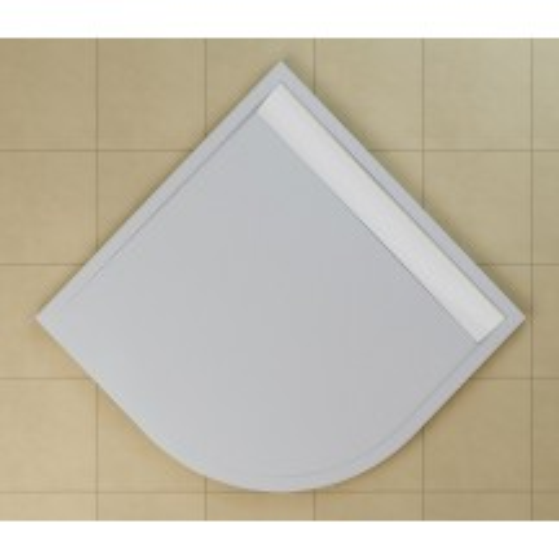 SanSwiss ILA sprchová vanička,čtvrtkruh R550 100x100x3,5 cm, bílá-kryt bílý, 1000//35 (WIR551000404)