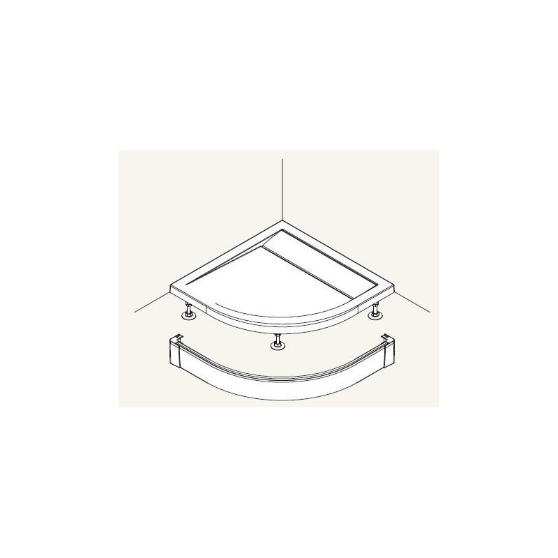 SanSwiss ILA Hliníkový panel pro čtvrtkruhovou vaničku,1000/95,50-ALUCR (PWIR5510050)