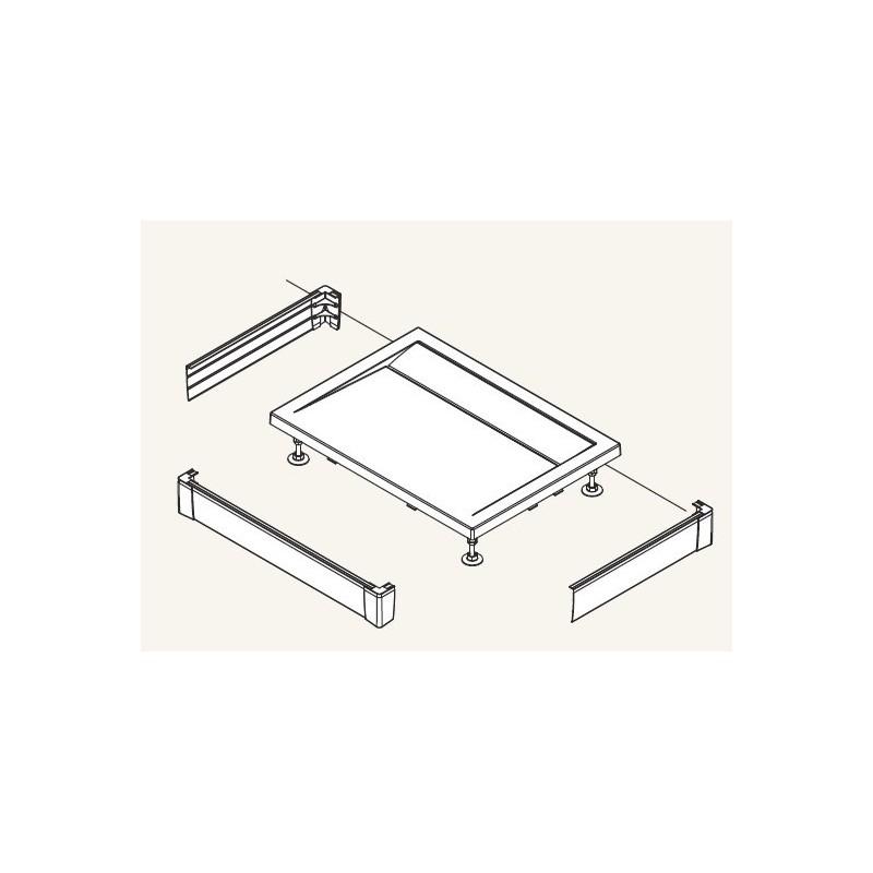 SanSwiss ILA Hliníkový panel pro obdél. vaničku-U panel,1000/800/95,50-ALUCR (PWIU801008050)