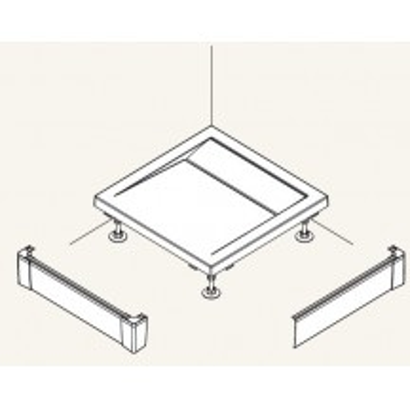 SanSwiss ILA Hliníkový panel pro obdél. vaničku -L panel ,1400/900/95,50-ALUCR (PWIL09014050)