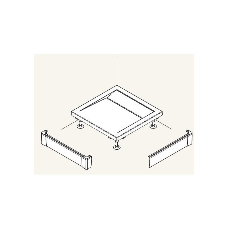 SanSwiss ILA Hliníkový panel pro obdél. vaničku -L panel ,800/95,04-bílá (PWIL08008004)