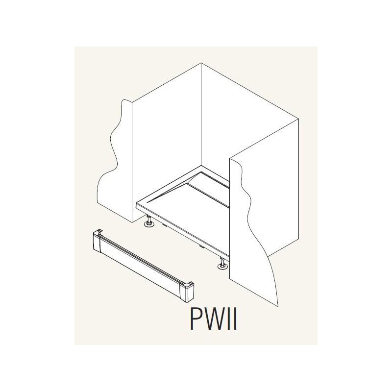 SanSwiss ILA Hliníkový panel pro obdél. vaničku-I panel,1600/95,50-ALUCR (PWII16050)