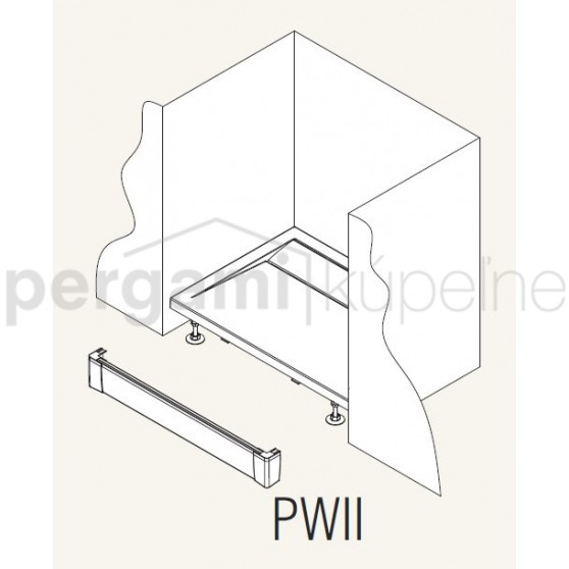 SanSwiss ILA Hliníkový panel pro obdél. vaničku-I panel,1200/95,04-bílá (PWII12004)