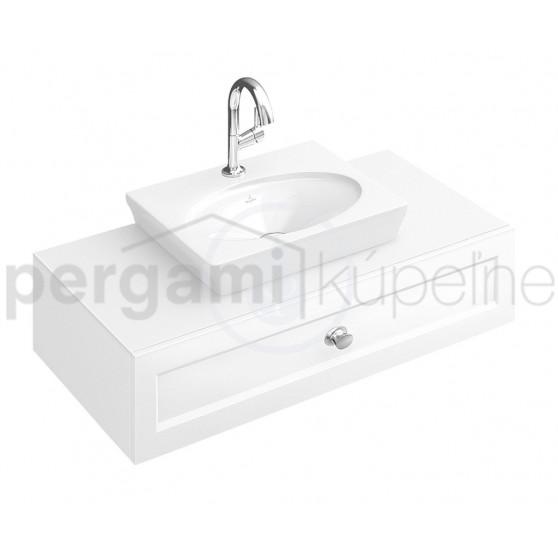 VILLEROY & BOCH - La Belle Jednootvorové umývátko bez přepadu, 520 mm x 460 mm, s Ceramicplus, bílé (7324G0R1)