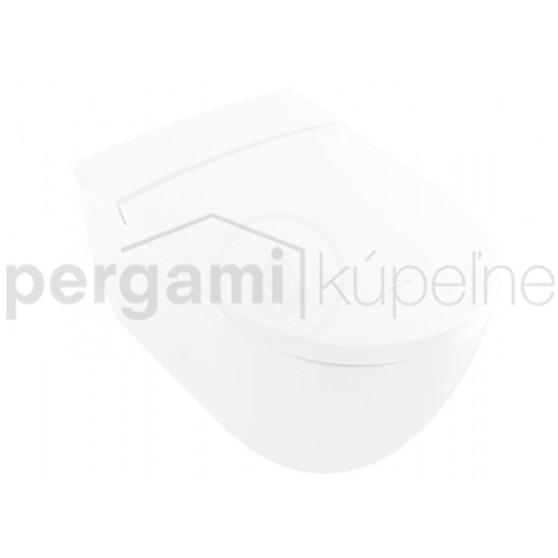 VILLEROY & BOCH - ViClean Závěsný klozet s bidetovým sedátkem 385 x 595 x 400 mm, s CeramicPlus, alpská bílá (V0E100R1)